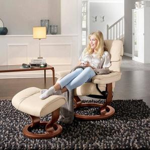 Stressless® Relaxsessel »Ruby«, mit Classic Base, Größe M, Gestell Eiche, Wenge, Braun & Schwarz