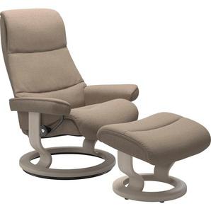 Stressless® Relaxsessel »View«, mit Classic Base, Größe M,Gestell Whitewash