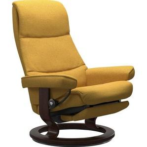 Stressless® Relaxsessel »View«, mit Classic Base und Power™, elektrisch verstellbar, optional 2-motorisch, Größe M & L, Gestell Braun