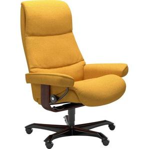 Stressless® Relaxsessel »View«, mit Home Office Base, Größe M,Gestell Braun