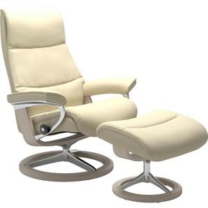 Stressless® Relaxsessel »View«, mit Signature Base, Größe M,Gestell Whitewash