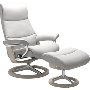 Stressless® Relaxsessel »View«, mit Signature Base, Größe M,Gestell Whitewash