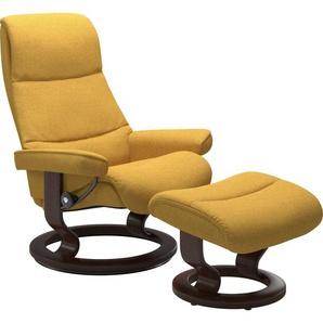Stressless® Relaxsessel »View« (Set), mit Classic Base, Größe M,Gestell Braun