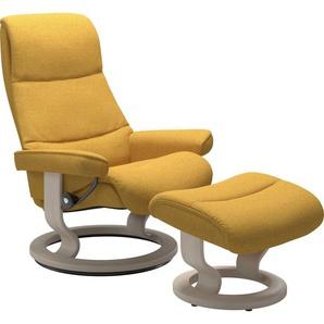 Stressless® Relaxsessel »View« (Set), mit Classic Base, Größe M,Gestell Whitewash