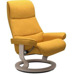 Stressless® Relaxsessel »View« (Set), mit Classic Base, Größe S,Gestell Whitewash