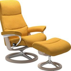 Stressless® Relaxsessel »View« (Set), mit Signature Base, Größe L,Gestell Whitewash