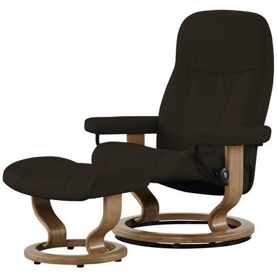 Stressless Relaxsessel mit Hocker braun - Leder Consul L ¦ braun ¦ Maße (cm): B: 85 H: 100 T: 77