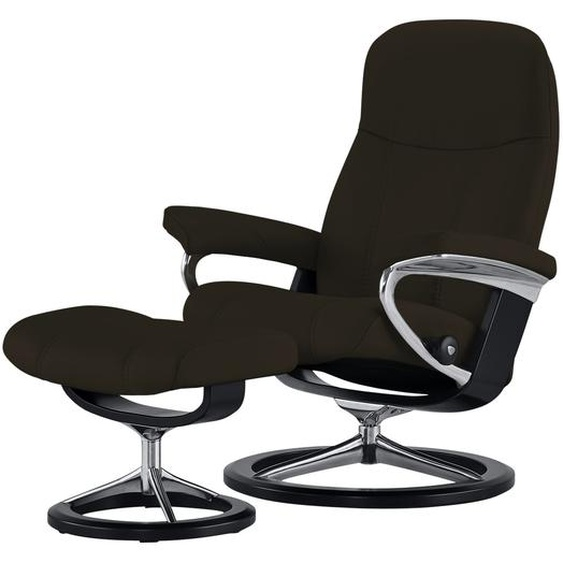 Stressless Relaxsessel mit Hocker braun - Leder Consul S ¦ braun ¦ Maße (cm): B: 78 H: 97 T: 70