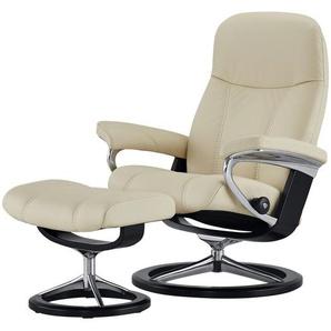 Stressless Relaxsessel mit Hocker  Consul - creme - 91 cm - 102 cm - 79 cm | Möbel Kraft