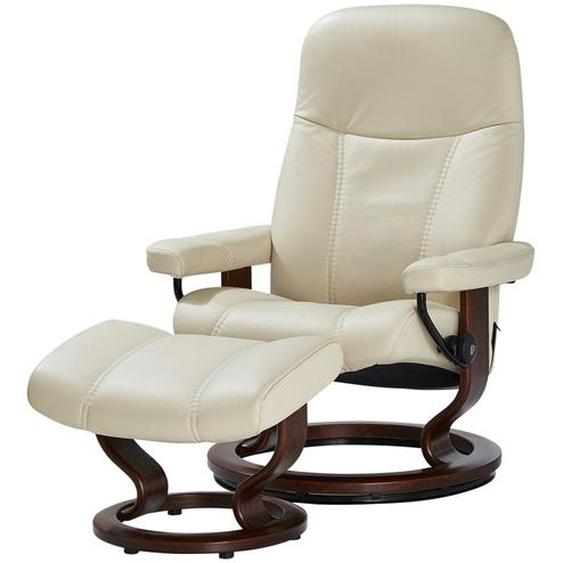 Stressless Relaxsessel mit Hocker  Consul ¦ creme ¦ Maße (cm): B: 75 H: 100 T: 71