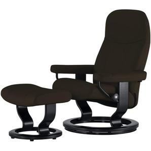 Stressless Relaxsessel mit Hocker braun - Leder Consul L ¦ braun ¦ Maße (cm): B: 85 H: 100 T: 77 Polstermöbel  Sessel  Fernsehsessel » Höffner
