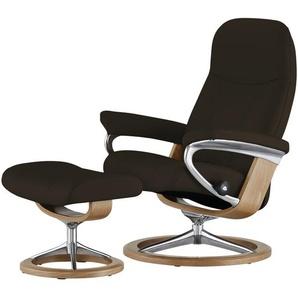 Stressless Relaxsessel mit Hocker braun - Leder Consul L ¦ braun ¦ Maße (cm): B: 91 H: 102 T: 79 Polstermöbel  Sessel  Fernsehsessel » Höffner
