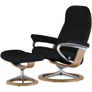 Stressless Relaxsessel mit Hocker schwarz - Leder Consul L ¦ schwarz ¦ Maße (cm): B: 91 H: 102 T: 79 Polstermöbel  Sessel  Fernsehsessel » Höffner