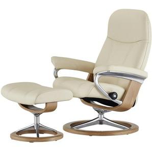 Stressless Relaxsessel mit Hocker creme - Leder Consul M ¦ creme ¦ Maße (cm): B: 76 H: 100 T: 71 Polstermöbel  Sessel  Fernsehsessel » Höffner