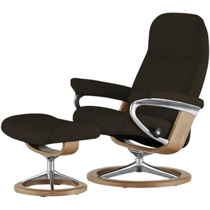 Stressless Relaxsessel mit Hocker braun - Leder Consul S ¦ braun ¦ Maße (cm): B: 78 H: 97 T: 70 Polstermöbel  Sessel  Fernsehsessel » Höffner