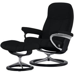 Stressless Relaxsessel mit Hocker  Consul - schwarz - 76 cm - 100 cm - 71 cm   Möbel Kraft