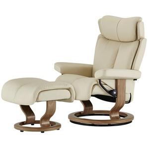 Stressless Relaxsessel mit Hocker creme - Leder Magic L ¦ creme ¦ Maße (cm): B: 90 H: 111 T: 82 Polstermöbel  Sessel  Fernsehsessel » Höffner
