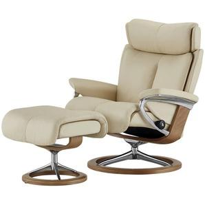 Stressless Relaxsessel mit Hocker creme - Leder Magic M ¦ creme ¦ Maße (cm): B: 82 H: 112 T: 78 Polstermöbel  Sessel  Fernsehsessel » Höffner