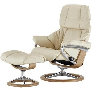 Stressless Relaxsessel mit Hocker creme - Leder Reno M ¦ creme ¦ Maße (cm): B: 83 H: 110 T: 76 Polstermöbel  Sessel  Fernsehsessel » Höffner