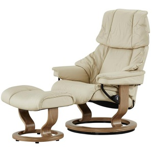 Stressless Relaxsessel mit Hocker creme - Leder Reno S ¦ creme ¦ Maße (cm): B: 75 H: 106 T: 75 Polstermöbel  Sessel  Fernsehsessel » Höffner