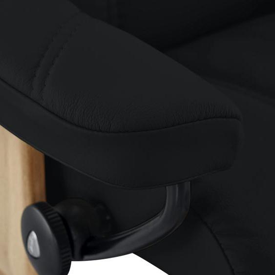 Stressless Relaxsessel mit Hocker schwarz - Leder Consul S ¦ schwarz ¦ Maße (cm): B: 72 H: 94 T: 70