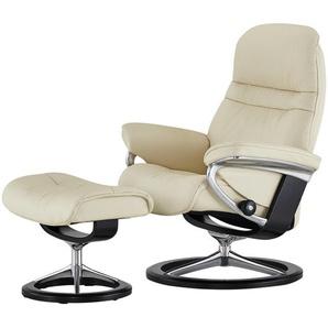 Stressless Relaxsessel mit Hocker creme - Leder Sunrise M ¦ creme ¦ Maße (cm): B: 83 H: 105 T: 74 Polstermöbel  Sessel  Fernsehsessel » Höffner
