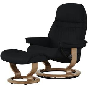 Stressless Relaxsessel mit Hocker schwarz - Leder Sunrise M ¦ schwarz ¦ Maße (cm): B: 79 H: 103 T: 73 Polstermöbel  Sessel  Fernsehsessel » Höffner