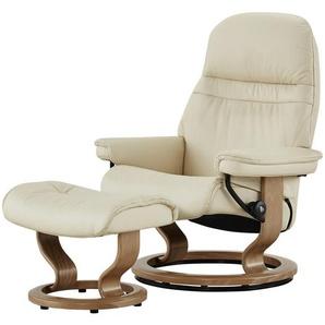 Stressless Relaxsessel mit Hocker creme - Leder Sunrise S ¦ creme ¦ Maße (cm): B: 75 H: 100 T: 73 Polstermöbel  Sessel  Fernsehsessel » Höffner
