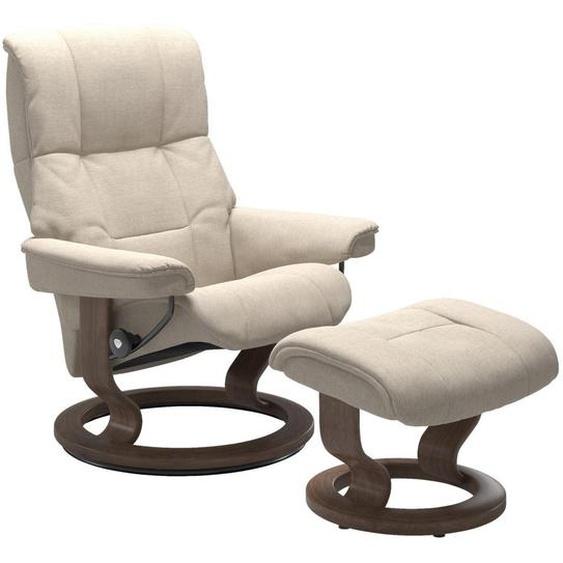 Stressless Relaxsesselset Mayfair Struktur Relaxfunktion, Hocker , Beige , Textil , Walnuss , Schichtholz , 79x101x73 cm