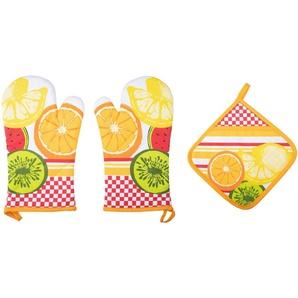 stuco Topfhandschuhe »Summer Fruits«, (Set, 3-tlg)