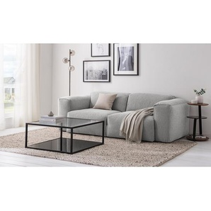 Studio Copenhagen Sofa Hudson 2-Sitzer Hellgrau Webstoff 228x71x102 cm (BxHxT) Skandi