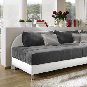 Schlafcouch mit Bettkasten - weiß - Enea