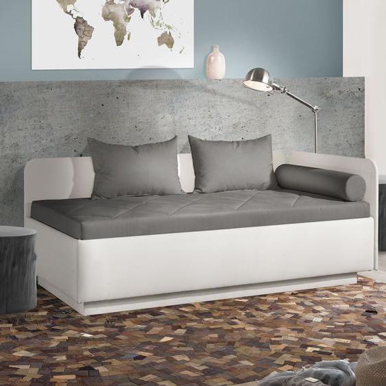 Studioliege Eriko Komfort, sandfarben, 90x200 cm, mit Lattenrost - mit Bonell-Matratze, H2