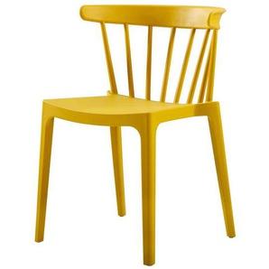 St�hle in Gelb Kunststoff (2er Set)