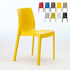 Stühle Küchenstuhl Esstischstuhl Esszimmerstuhl Grand Soleil ROME Made in Italy   Gelb