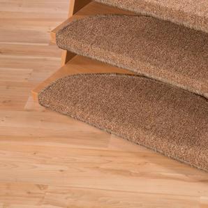 Stufenmatte »Bob«, Andiamo, halbrund, Höhe 4,5 mm, melierte Schlinge, erhältlich als Set mit 2 Stück oder 15 Stück