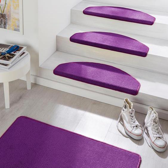 Stufenmatte, Fancy, HANSE Home, halbrund, Höhe 7 mm, maschinell getuftet 22, 15x 23x65 cm, mm lila Stufenmatten Teppiche