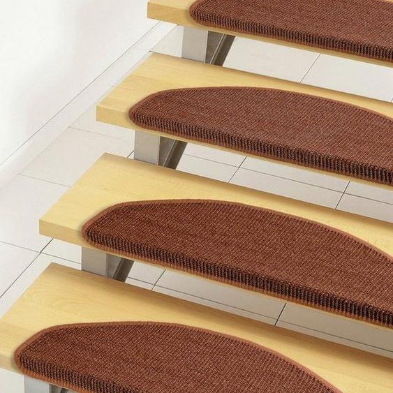 Stufenmatte »Mara S2«, Dekowe, halbrund, Höhe 5 mm, Obermaterial: 100% Sisal