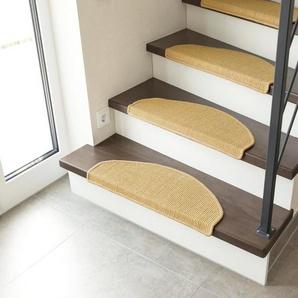 Stufenmatte »Odense«, Andiamo, halbrund, Höhe 9 mm, 100% Sisal, erhältlich als Set mit 2 Stück oder 15 Stück