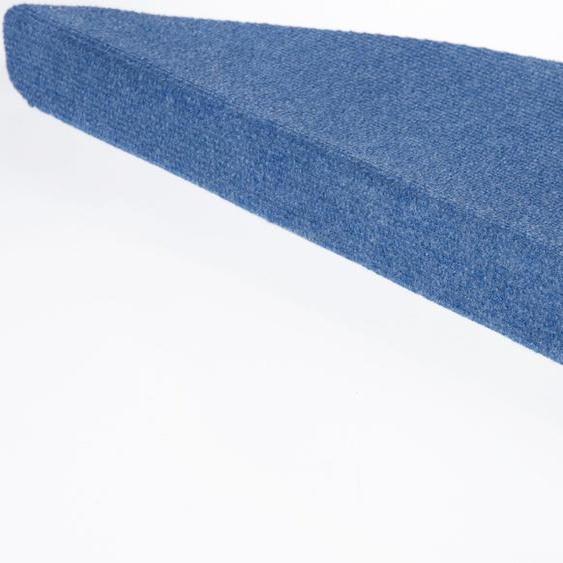 Stufenmatte, Paris, Andiamo, halbrund, Höhe 2 mm, maschinell getuftet 21, 15x 23x65 cm, mm blau Stufenmatten Teppiche