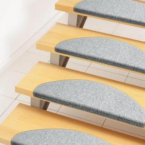 Stufenmatte »Rambo«, Andiamo, halbrund, Höhe 4 mm, melierte Schlinge, 15 Stück in einem Set