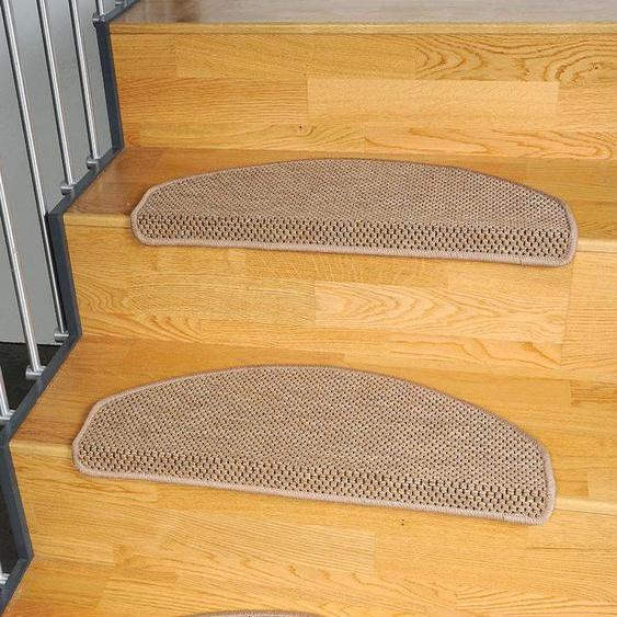 Stufenmatte, Sahara, Living Line, stufenförmig, Höhe 5 mm, maschinell gewebt 22, 15x 24x65 cm, mm braun Stufenmatten Teppiche
