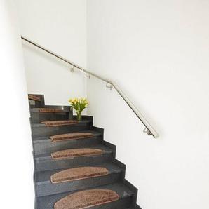 Stufenmatte »Shaggy«, Andiamo, rechteckig, Höhe 15 mm, große Farbauswahl, 15 Stück in einem Set