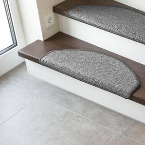 Stufenmatte »Sheffield«, LUXOR living, halbrund, Höhe 5 mm, Schurwolle, melierte Berber-Optik, erhältlich als Set mit 2 Stück oder 15 Stück