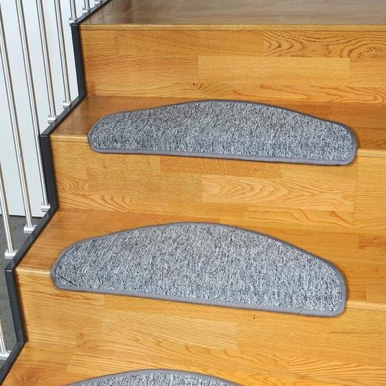 Stufenmatte »Torronto«, Living Line, halbrund, Höhe 5 mm, Kurzflor
