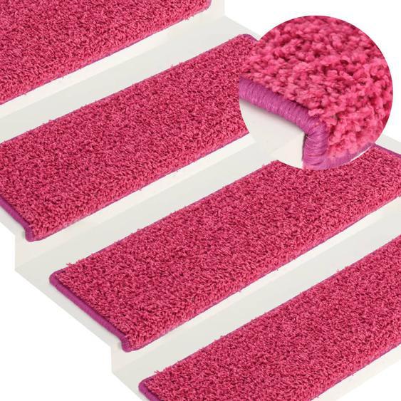 Stufenmatten 15 Stk. 65x25 cm Rosa