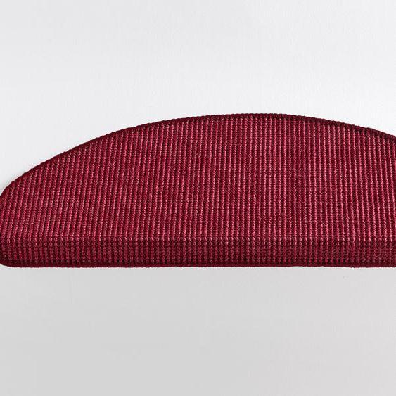 Stufenmatten einzeln oder im 15er Set ca. 4/66/24 cm, rot Teppiche Fußmatten