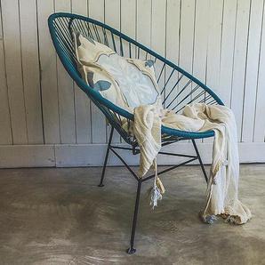 Stuhl Acapulco Chair Acapulco Design türkis, 92x70x95 cm