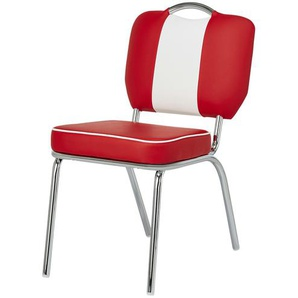 Stuhl  American Diner ¦ rot ¦ Maße (cm): B: 48 H: 84,5 T: 64 Stühle  Esszimmerstühle  Esszimmerstühle mit Armlehnen » Höffner