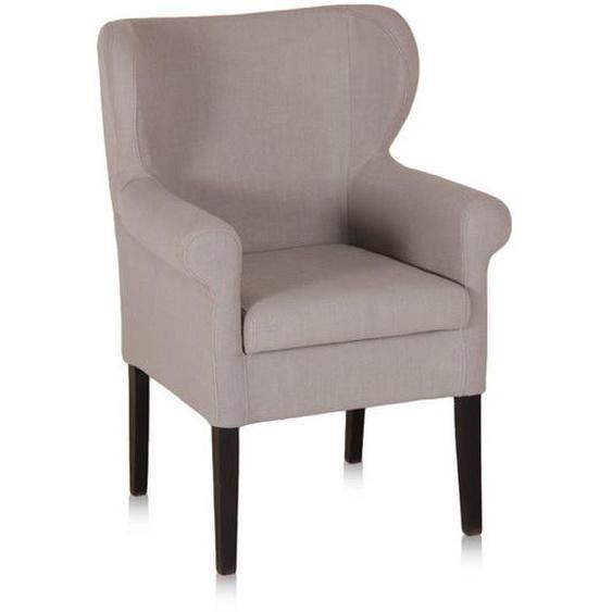 Stuhl aus Buche und Kunsleder mit Armlehnen